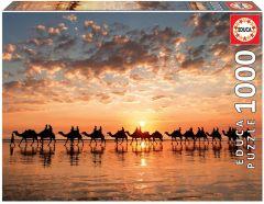 EDUCA 1000PC JIGSAW PUZZLE GOLDEN SUNSET ON CABLE BEACH AUSTRALIA