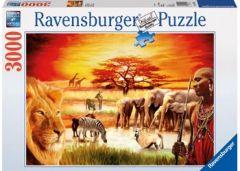 RAVENSBURGER 3000 PIECE JIGSAW PUZZLE SAVANNAH MASAI