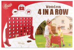 GARDEN GAMES WOODEN 4 IN A ROW