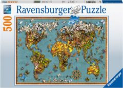 RAVENSBURGER 500PC JIGSAW PUZZLE WORLD OF BUTTERFLIES