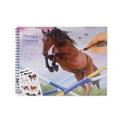HORSE DREAMS COLOURING IN BOOK
