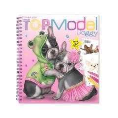 TOP MODEL DOGGY COLOUR/STICKER BOOK