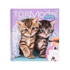 TOP MODEL KITTY COLOUR/STICKER BOOK
