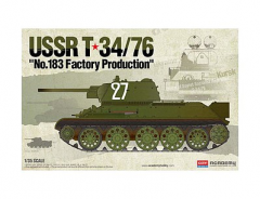 ACADEMY 1:35 USSR T 34/76 NO.183 FACTORY PRODUCTION
