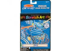 MELISSA AND DOUG SCRATCH ART VEHICLES COLOR REVEAL PAD