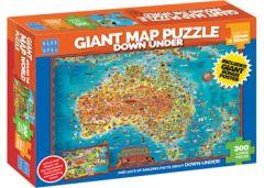 BLUE OPAL 300PC LP JIGSAW PUZZLE GIANT MAP PUZZLE DOWN UNDER