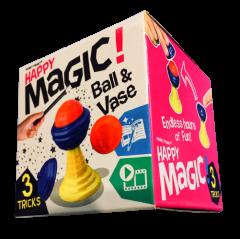 HAPPY MAGIC MINI TRICK BOX - BALL & VASE