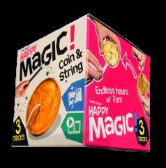 HAPPY MAGIC MINI TRICK BOX - COIN & STRING