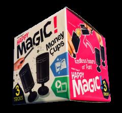 HAPPY MAGIC MINI TRICK BOX - MONEY CUPS