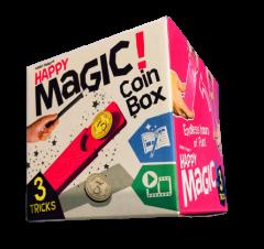 HAPPY MAGIC MINI TRICK BOX - COIN BOX