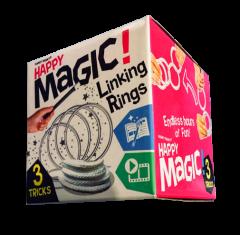 HAPPY MAGIC MINI TRICK BOX - LINKING RINGS