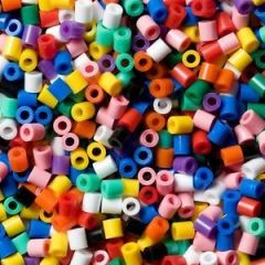 HAMA BEAD BAGS - APPROX 1000 BEADS WITH ALL COLOURS
