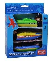 WILD REPUBLIC OCEAN ACTION BOATS 3PK