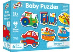 GALT BABY PUZZLES 6 X 2PC PUZZLES TRANSPORT