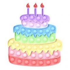 POP IT FIDGET PASTEL RAINBOW CAKE