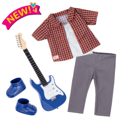 OUR GENERATION DELUXE OUTFIT PLAID TO ROCK