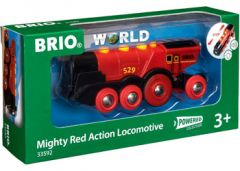 BRIO WOODEN RAILWAY MIGHTY RED ACTION LOCOMOTIVE