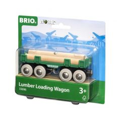 BRIO WORLD LUMBER LOADING WAGON
