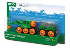 BRIO WORLD CLEVER CRANE WAGON