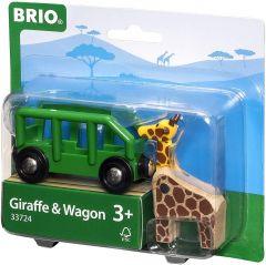 BRIO WORLD GIRAFFE AND WAGON