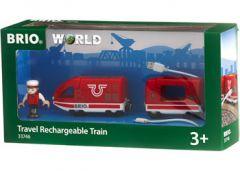 BRI WOODEN RAILWAY TRAVEL RECHARGEABLE TRAIN
