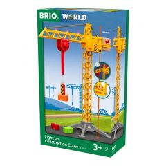 BRIO WORLD LIGHT UP CONSTRUCTION CRANE