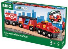 BRIO WORLD WOODEN RESCUE FIREFIGHTING TRAIN