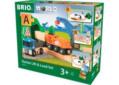 BRIO WORLD STARTER LIFT AND LOAD SET 19 PIECES
