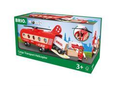 BRIO WORLD CARGO TRANSPORT HELICOPTER 8 PIECE SET