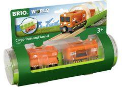BRIO WORLD CARGO TRAIN AND TUNNEL