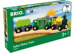 BRI WORLD WOODEN SAFARI RHINO TRAIN