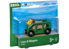 BRIO WORLD LION AND WAGON VEHICLE