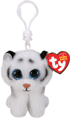 TY BEANIE BOOS CLIP ONS TUNDRA WHITE LION