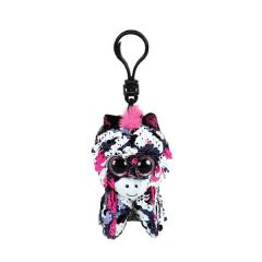 TY BEANIE BOOS FLIPPABLES CLIP ON SEQUIN ZOEY THE PINK ZEBRA