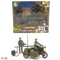 WORLD PEACEKEEPERS 1:18 PATROL VEHICLE MOTORCYCLE WITH SIDE CAR