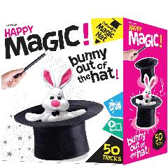 HAPPY MAGIC COLLAPSIBLE HAT 50 MAGIC TRICK SET