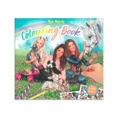 MISS MELODY COLOURING & STICKER BOOK ANIMALS