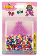 HAMA SMALL BLISTER PACK 450 BEADS PINK