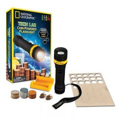 NATIONAL GEOGRAPHIC TECH LAB COIN POWERED STEM FLASHLIGHT