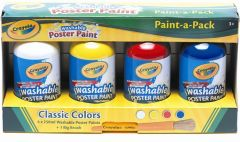CRAYOLA WASHABLE POSTER PAINT PACK