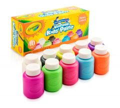 CRAYOLA WASHABLE KIDS PAINT- NEON COLOURS