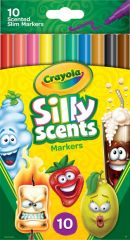 CRAYOLA 10 PIECE SILLY SCENTS SLIM MARKERS