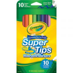 CRAYOLA- SUPERTIPS MARKERS 10 PACK