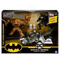 DC BATCYCLE BATMAN VS CLAYFACE