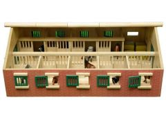 WOOD HORSE STABLE 1:32 NATURAL