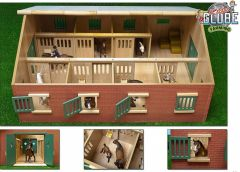 KIDS GLOBE LARGE WOODEN HORSE STABLE 1:24 scale