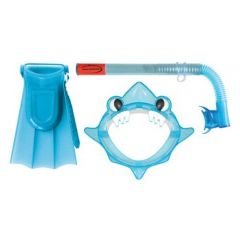 AQUA JUNIOR MASK, SNORKEL, FIN SET BLUE