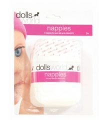 DOLLS WORLD NAPPIES 5PK