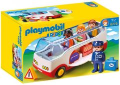 PLAYMOBIL 1.2.3.AIRPORT SHUTTLE BUS