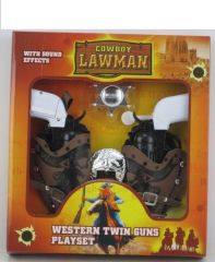 COWBOY LAWMAN WESTERN TWIN GUNS PLAYSET